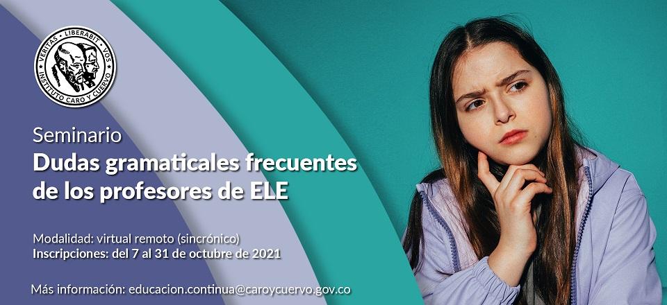 Seminario: Dudas gramaticales frecuentes de los profesores de ELE