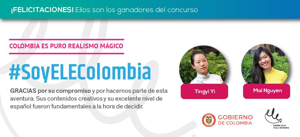 Becarias de ELE Colombia ganan concurso por su buen dominio del español