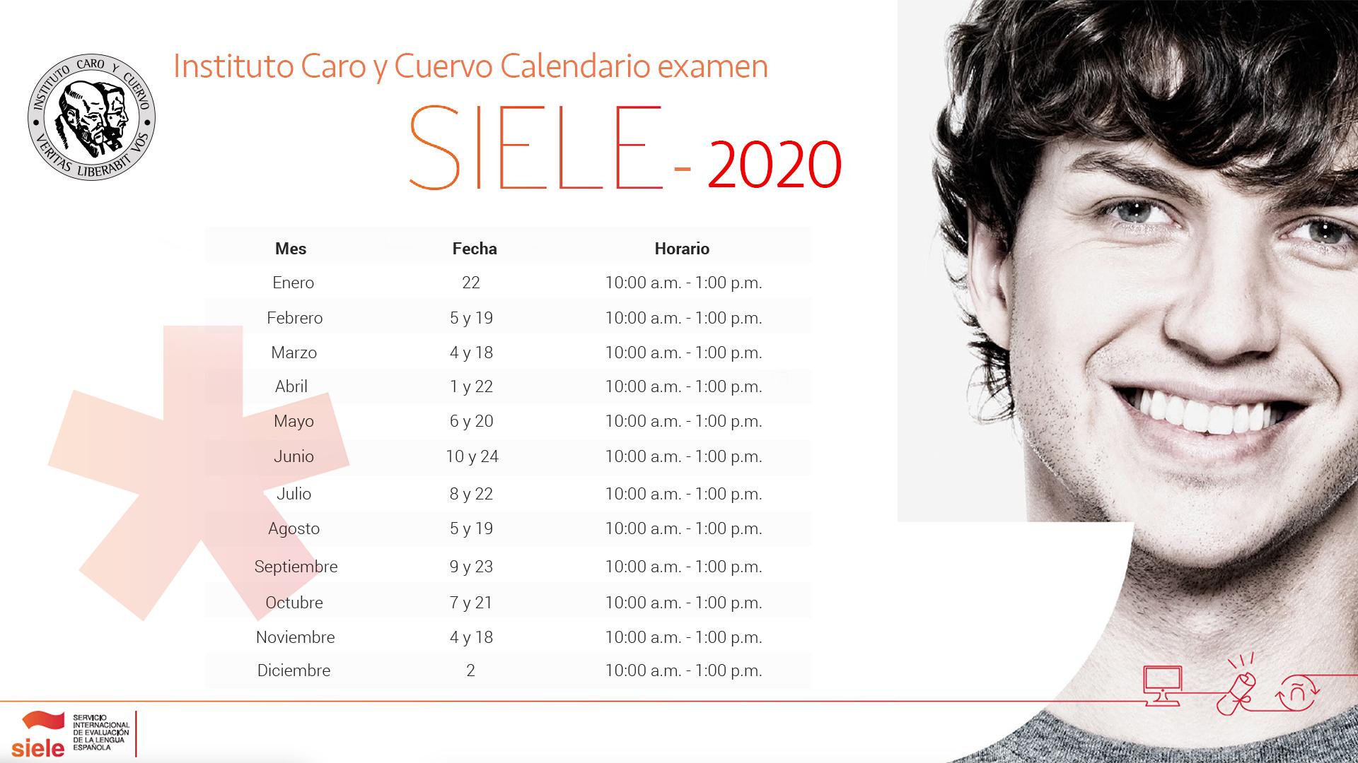 Calendario SIELE 2020
