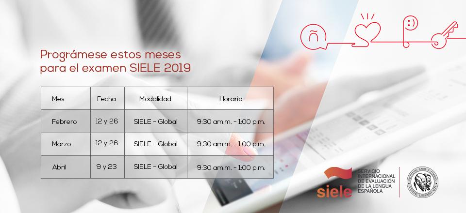 Prográmese en febrero para el primer examen SIELE 2019