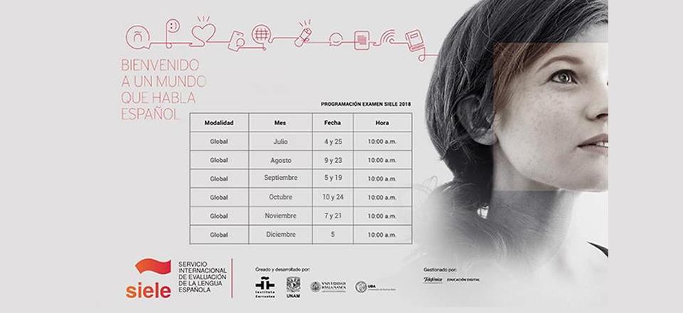 Calendario para presentar el SIELE en el segundo semestre de 2018