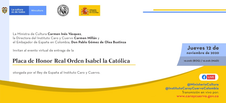 Noticia destacada Entrega de la Placa de Honor Real Orden Isabel la Católica