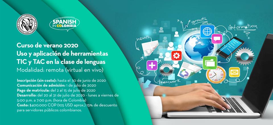 Nuevo curso de verano 2020: Uso y aplicación de herramientas TIC y TAC en la clase de lenguas