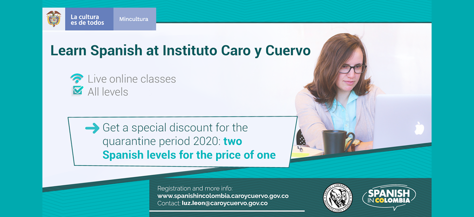 Noticia destacada Learn Spanish with online live classes from Instituto Caro y Cuervo (Colombia)